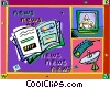 broadcast news Vector Clipart picture