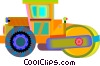 Vector Clipart illustration  of a steam roller