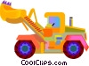 front-end loader Vector Clip Art image