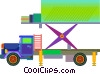 Vector Clipart picture  of a transport truck