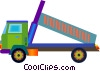 Vector Clip Art picture  of a dump truck