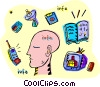 information in its various modes Vector Clip Art picture