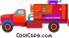 fire truck Vector Clipart illustration