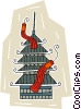 Vector Clipart picture  of a pagoda