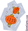 Vector Clip Art image  of a Oriental lamps