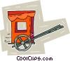 rickshaw Vector Clipart graphic