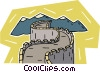 Vector Clipart graphic  of a Great Wall of China