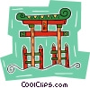 temple gate Vector Clipart image
