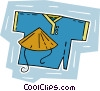 Vector Clip Art picture  of a Eastern garment with hat