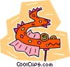 Vector Clipart graphic  of a Chinese dragon