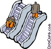 escalators Vector Clipart picture