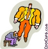 Vector Clipart picture  of a tailor