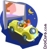 Vector Clipart picture  of a drive in movie