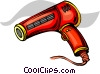 Vector Clipart image  of a blow dryer