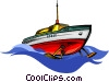 Vector Clip Art image  of a hydrofoil