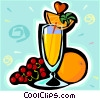 Vector Clip Art graphic  of a Fruit drinks