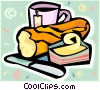 bread and butter Vector Clipart illustration
