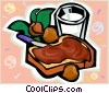Vector Clipart graphic  of a sandwich