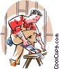 Vector Clip Art picture  of a carpenter