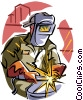 welder Vector Clip Art graphic
