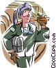 Vector Clipart graphic  of a mine worker