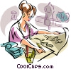 fashion designer Vector Clip Art picture