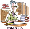 librarian Vector Clipart illustration