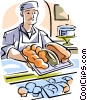 baker Vector Clipart illustration