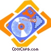 computer hard disk Vector Clipart illustration