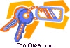 car keys Vector Clipart illustration