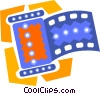 Vector Clip Art image  of a roll of film