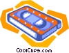 Vector Clipart graphic  of a videotape