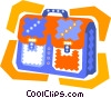 briefcase or satchel Vector Clipart graphic