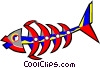 Vector Clip Art picture  of a ship design