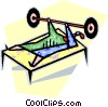 Vector Clip Art graphic  of a lifting weights