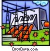 Vector Clipart graphic  of a hydro facility