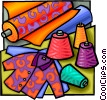 Fabrics and garments Vector Clip Art graphic