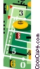 football field Vector Clipart illustration
