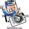 Internet concept Vector Clipart picture