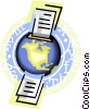 Vector Clipart graphic  of a global mail