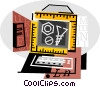 Vector Clip Art graphic  of a carpentry
