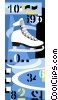 Vector Clip Art graphic  of a Figure skating