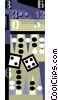 Vector Clipart image  of a backgammon