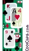 Vector Clipart graphic  of a playing cards