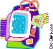 Vector Clipart picture  of a running a bath