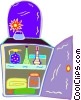 Vector Clip Art picture  of a personal items in cabinet