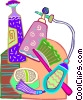 Vector Clip Art graphic  of a perfumes