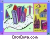 buildings Vector Clipart graphic