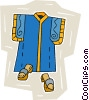 Vector Clip Art picture  of a Oriental garment