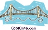 Vector Clipart image  of a bridge